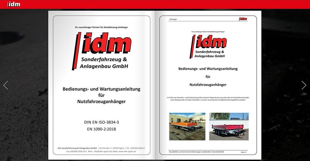 Broschüre idm Sonderfahrzeug & Anlagenbau GmbH