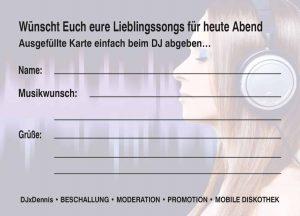 DJxDennis Musikwuschkarte 2
